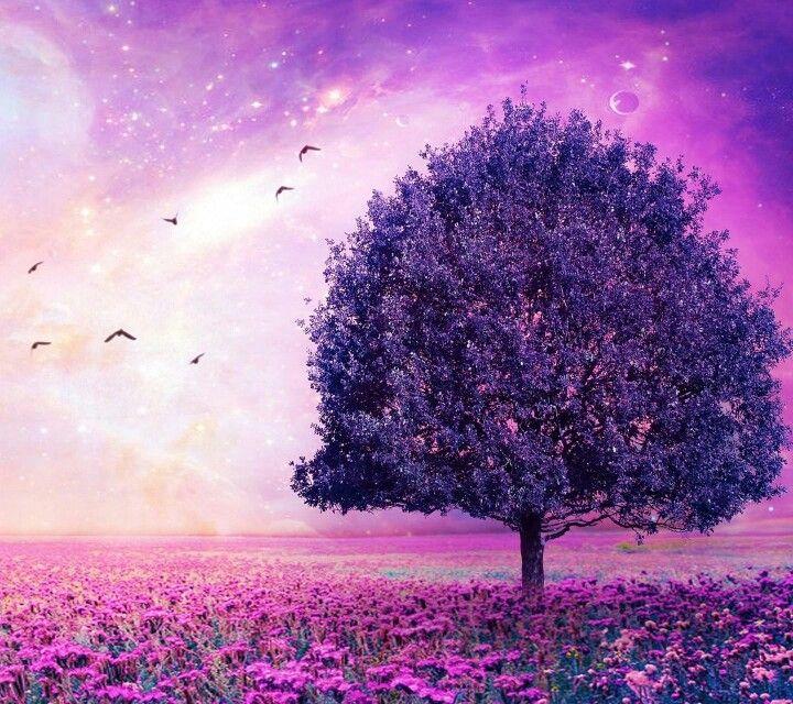 Дерево фэнтези. Сиреневое