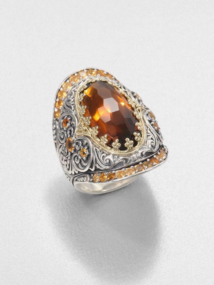 Konstantino 18k Yellow Gold Opal Ring w/ Diamonds VMzyrZAYqW