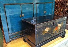 This blue cabinet will brighten any room. Unique piece found in store at CARGO at the Moore Park Supa Centa, SHACK HQ in Artarmon.