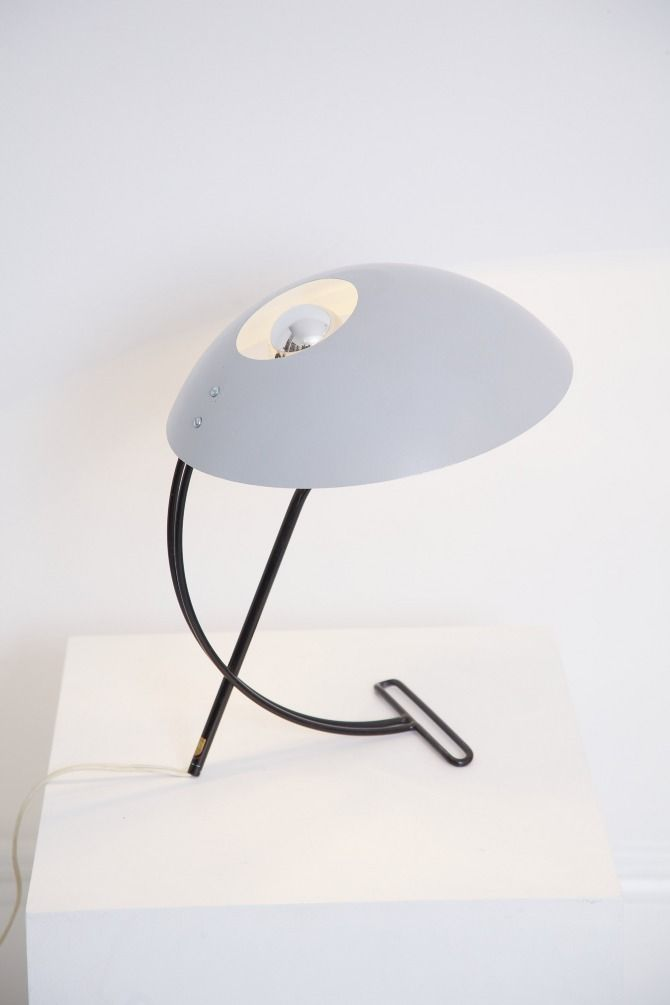 Louis Kalff; Painted Metal Desk Lamp, 1950s.