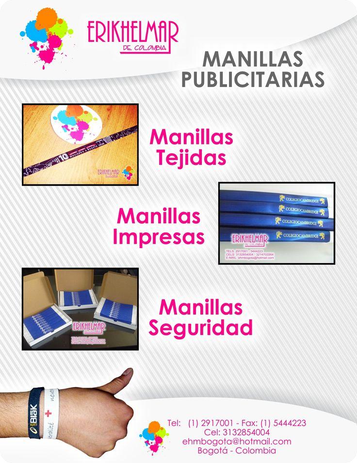 Manillas Promocionales  Personalizalas como quieras!!!!