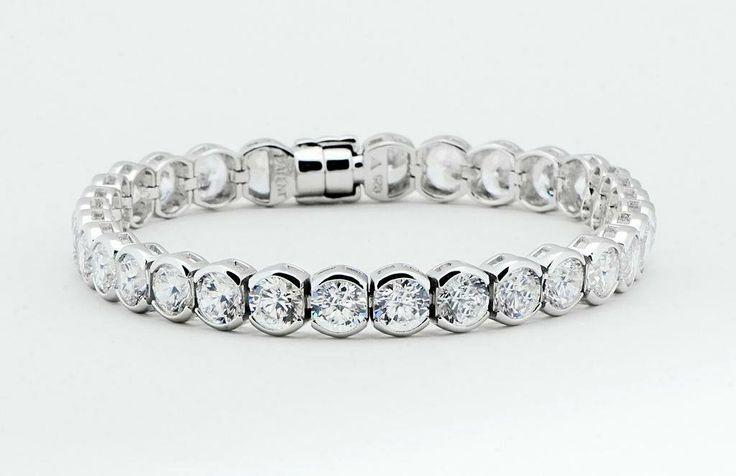 A Girl's Best Friend Bracelet - 31 Round brilliant cut semi bezel CZ gemstones and our unique magnent clasp- $280.00