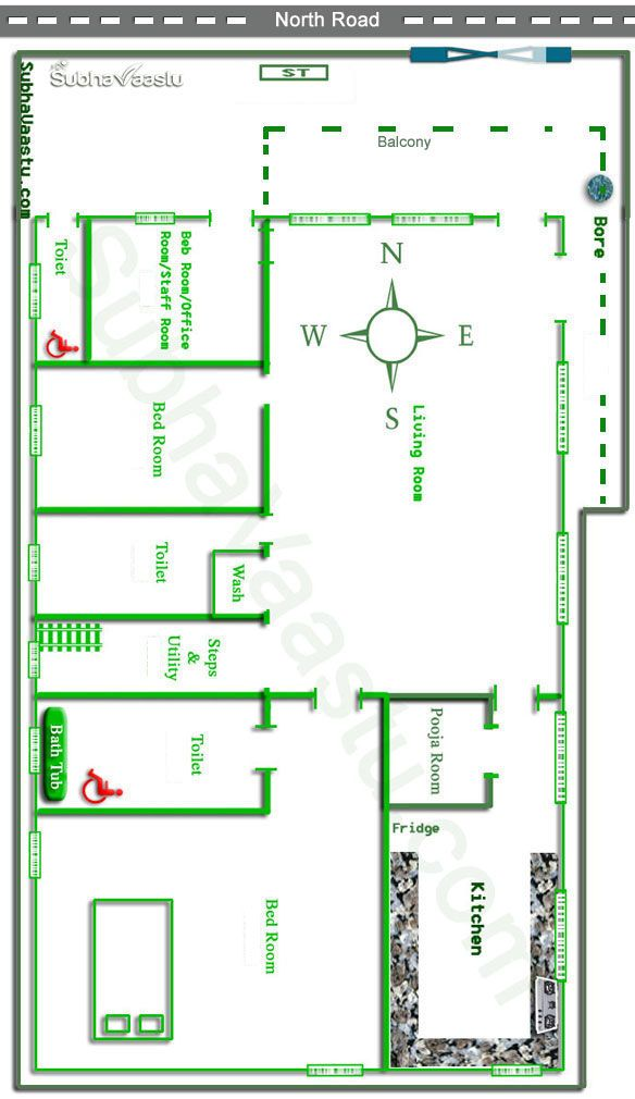 Vastu for north facing house layout
