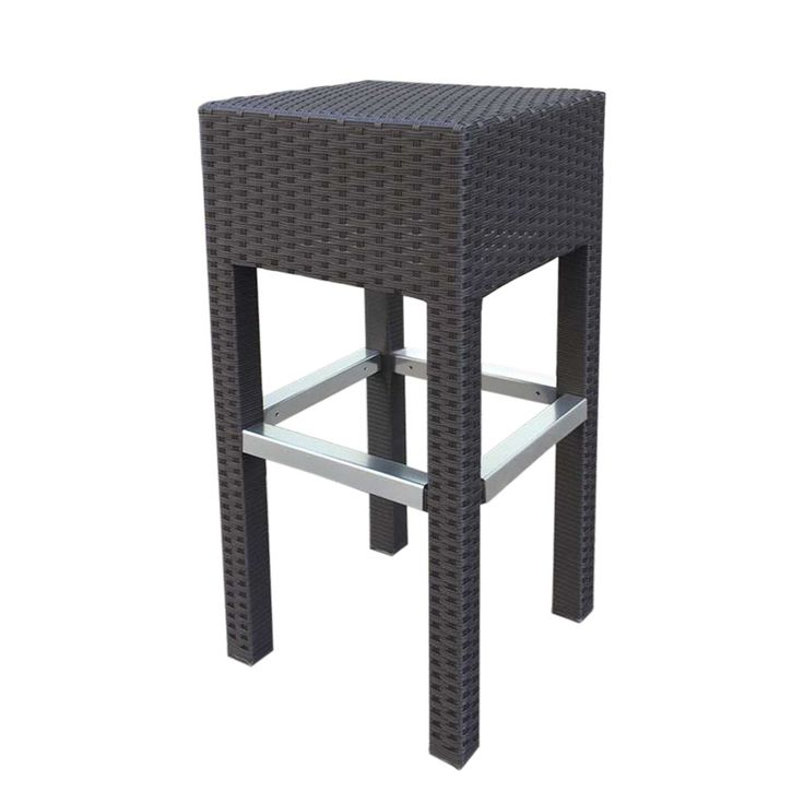 Abba Patio Outdoor Wicker Barstool Patio Furniture Bar Stool, 14.2''L x 14.2''W x 30.3''H, Brown. Made from durable fully weatherproof fade-resistant PE rattan, Perfect for indoor and outdoor use all year around. Aluminum frame ensures sturdiness and durability. Simple yet stylish, an ideal option to keep at your personal bar or kitchen counter. Casual style looks stunning in contemporary, traditional, and cottage-style decors. Simple and no assembly is required.