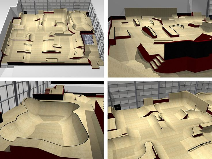 """Indoor Skatepark.What a cool model they should have gotten an """"A""""."""