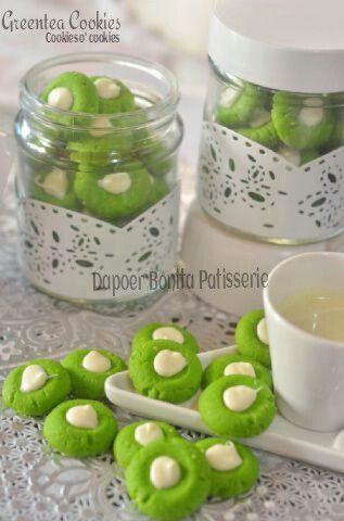 Green tea cookies by Dapoer Bonita patisserie @Jambi Indonesia