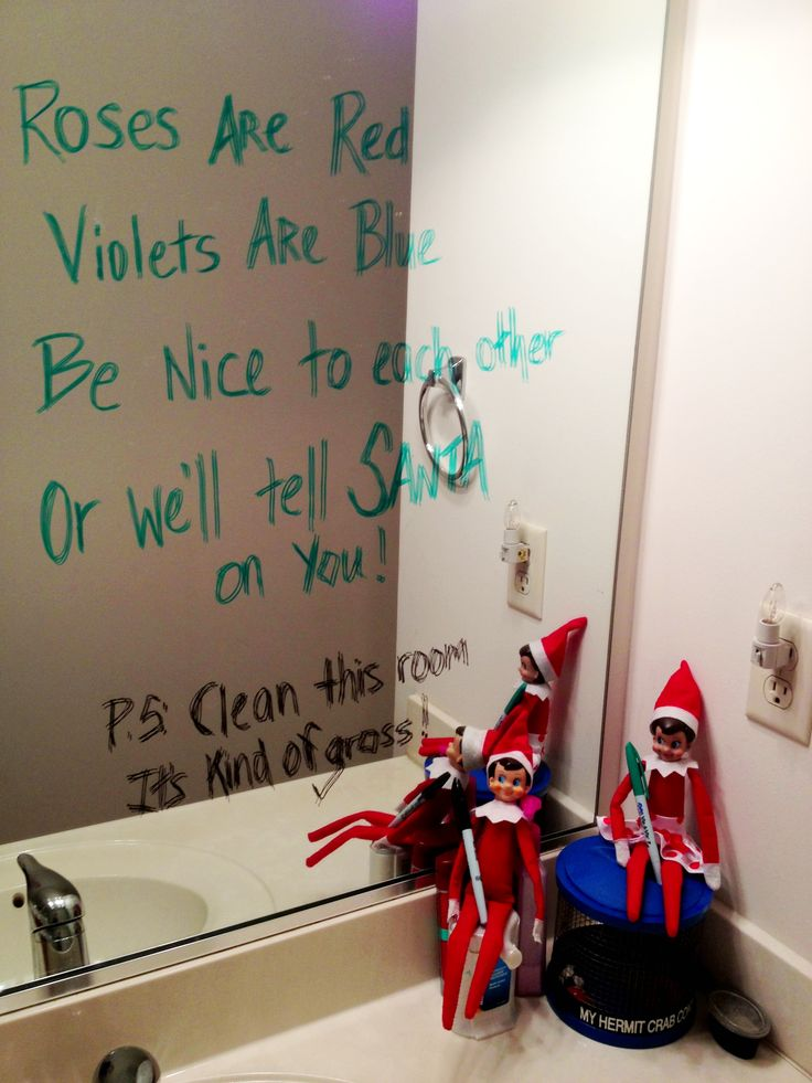 572 best images about elf on the shelf on pinterest for Elf on the shelf bathroom ideas