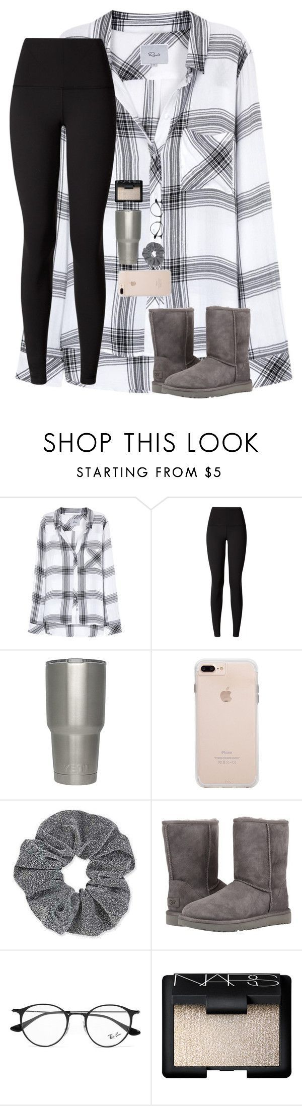 2 Days Until Christmas!RTD by preppy-dreamer ❤ liked on Polyvore featuring Rails, lululemon, Topshop, UGG Australia, Ray-Ban and NARS Cosmetics
