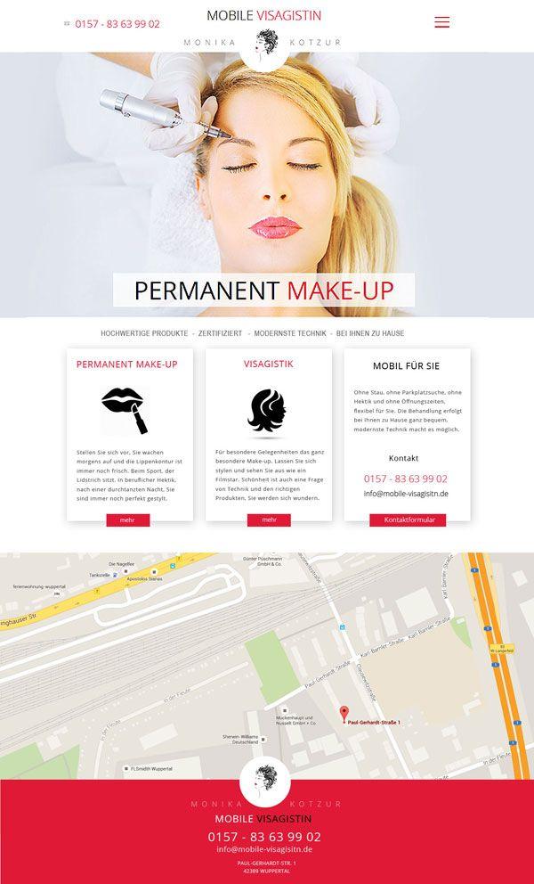 Webdesign: Mobile Visagistin Monika Kotzur - www.mobile-visagistin.de #Visagistin #makeup #make-up #webdesign #web-design #www