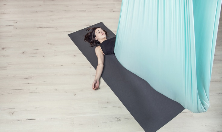 A great way to restore your energy   aerial restorative yoga #aerialyoga #offtheground