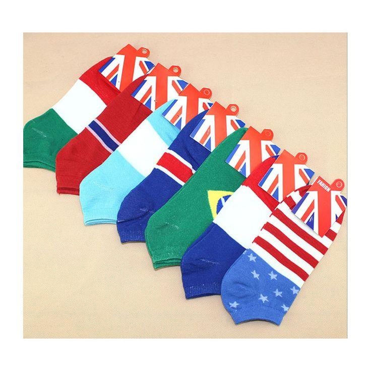 Flag socks for men thin style wholesale high quality  10pairs/lot toe sock for women boat design summer,spring