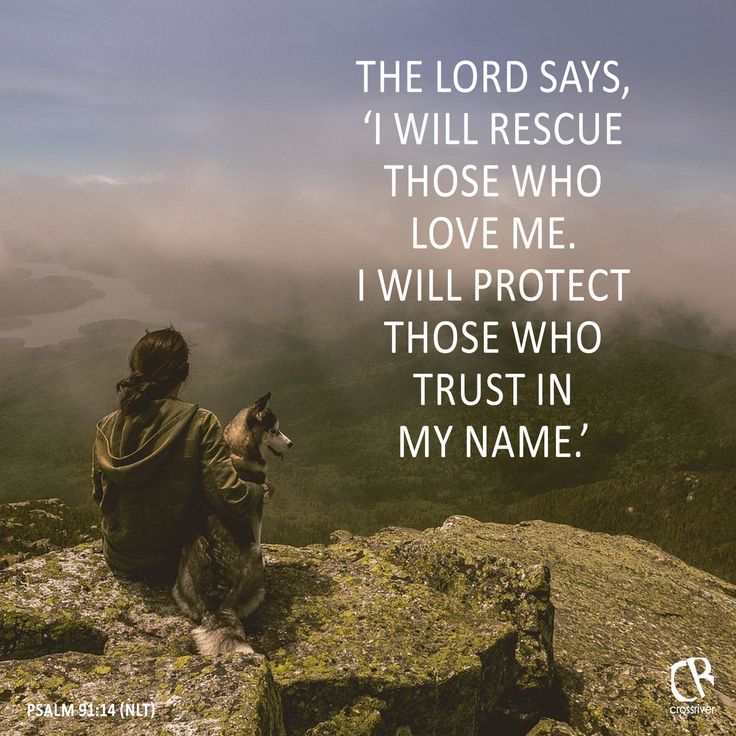 the lord says   u0026quot i will rescue those who love me  i will