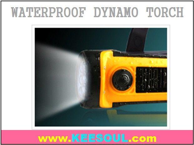 waterproof Bike Flashlight dynamo power
