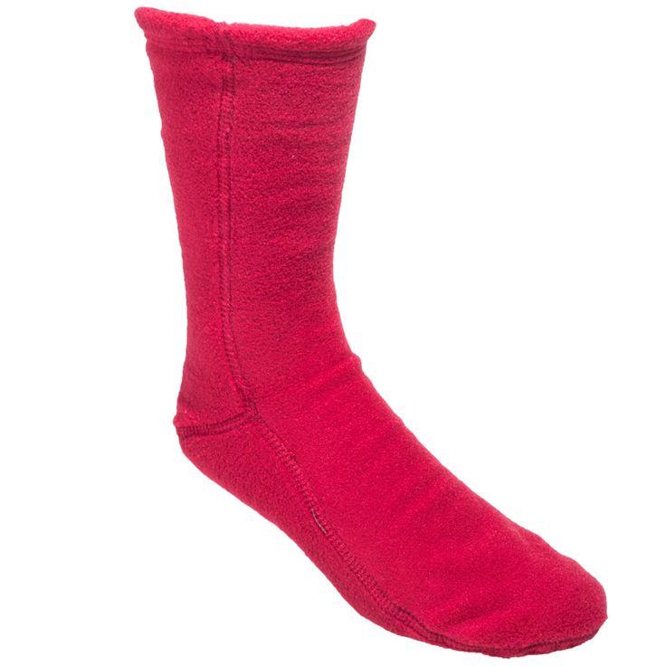Acorn Slippers Unisex A21208 RED Comfort Fleece Versafit Red Socks