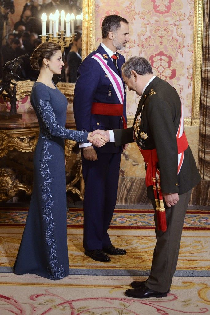 King Felipe and Queen Letizia attend the Pascua Militar ceremony at the Royal Palace in Madrid