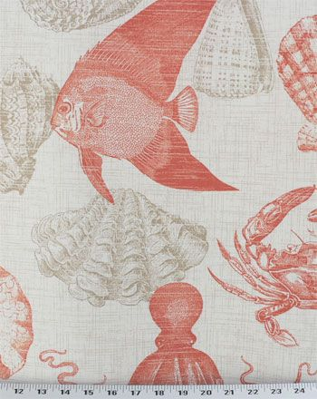 Sealife Coral - Indoor/Outdoor | Online Discount Drapery Fabrics and Upholstery Fabric Superstore!