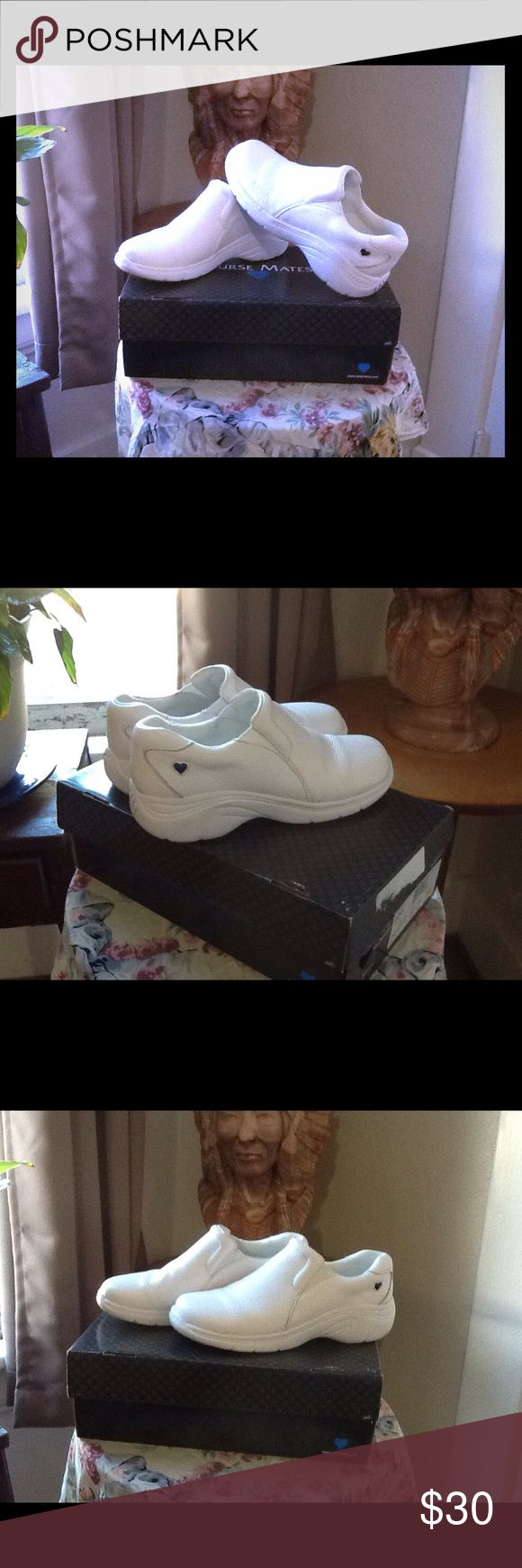 NURSE MATES Only worn a few times. To small for me. Dove white. Make your feet HAPPY!!!  I love mine! MAKE ME AN OFFER! Nurse Mates Shoes Mules & Clogs