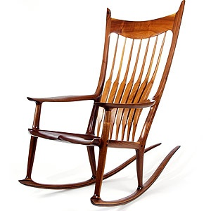 Sam Maloof rocker -- one of the most amazing wood workers that ever lived
