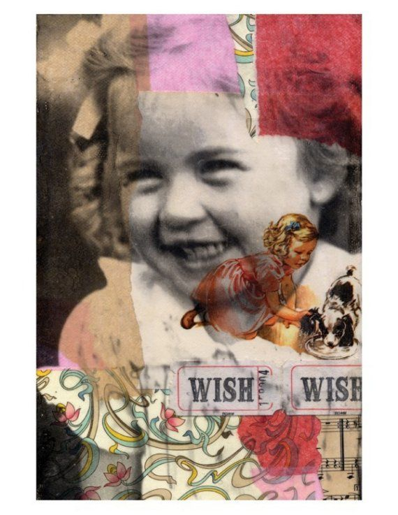 Molly6 PRINT, Michelle Caplan Mixed Media Collage