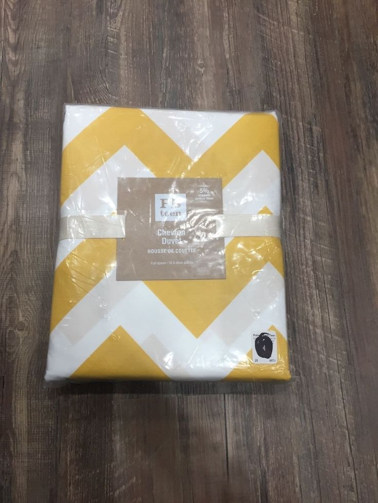 Duvet Covers 134641: New Pottery Barn Teen Yellow And White Chevron Duvet Cover, Twin -> BUY IT NOW ONLY: $39.99 on eBay!