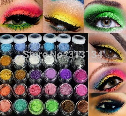 30 Kleuren Oogschaduw Poeder pigment Kleurrijke Make Minerale Oogschaduw Pigment set Makeup tools cosmetische
