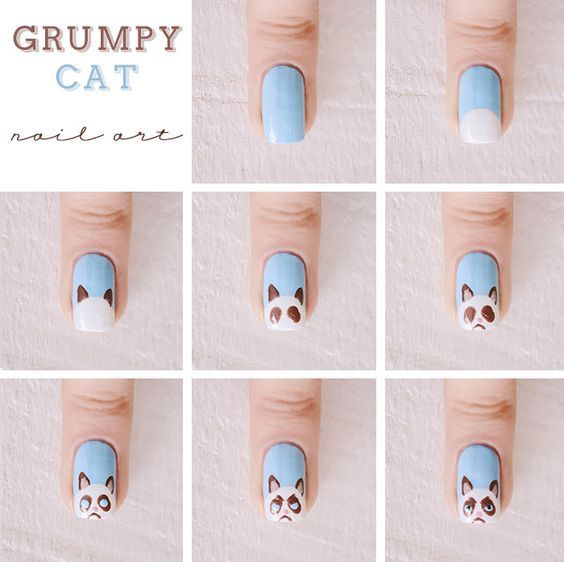 20 Puuuurfect Cat Manicures Cat Nail Art Designs For Lovers - Page 2