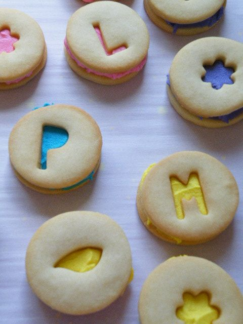 bright shortbread sandwiches | Easter | Pinterest