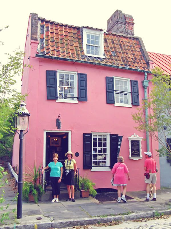 Pictures of houses painted pink