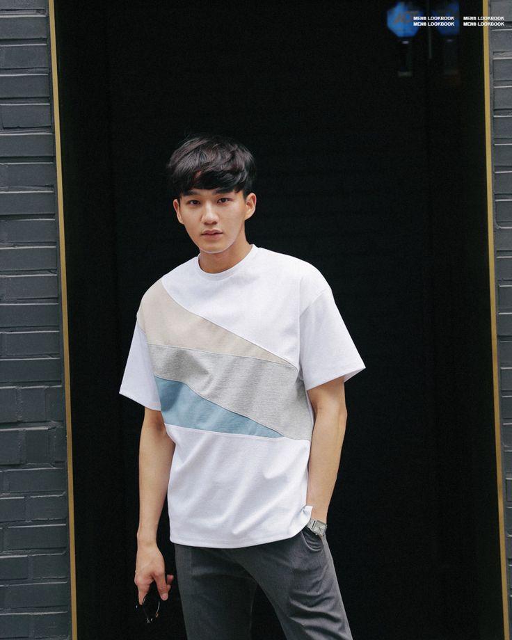 カラーブロックハーフスリーブコットンTシャツ・全2色Tシャツ・カットソー半袖Tシャツ|レディースファッション通販 DHOLICディーホリック [ファストファッション 水着 ワンピース]