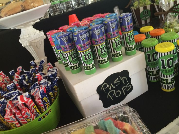 Wrapped Push Pops for soccer party