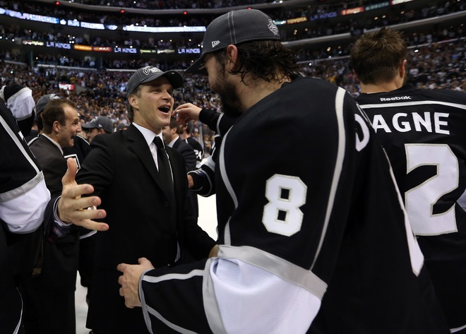 President, Business Operations, Alternate Governor Luc Robitaille And Drew Doughty #8 Of The Los Angeles Kings: The Angel