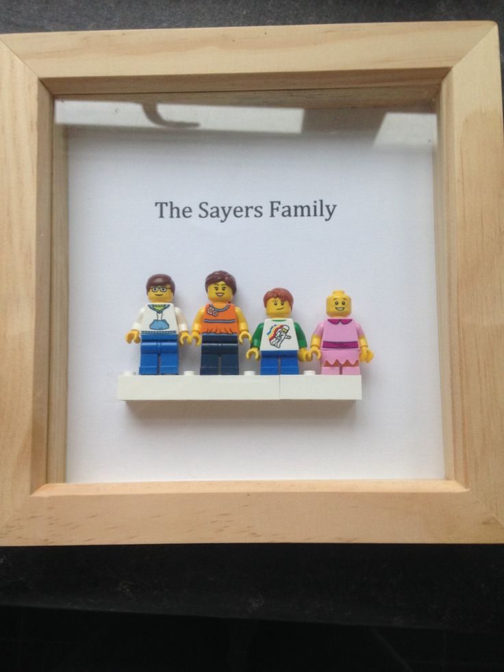 Personalized Family Lego Frame by Beckysboxframes on Etsy
