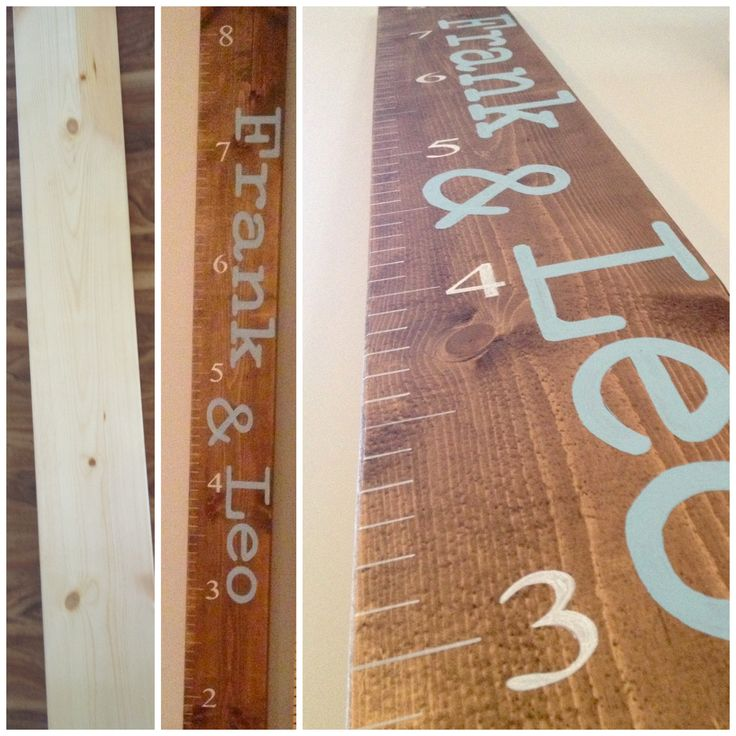 DIY growth ruler