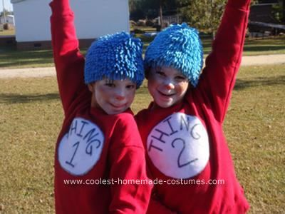 coolest homemade thing 1 and thing 2 halloween costumes - Thing 1 Thing 2 Halloween Costume