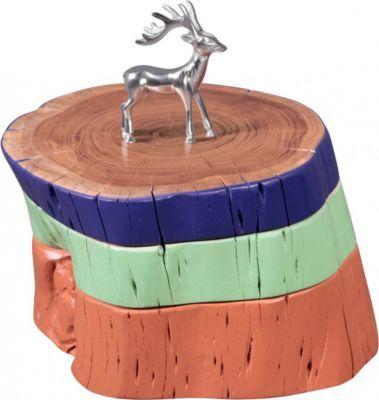 Wohnling WOHNLING Beistelltisch Vollholz Akazie Holzscheiben Bunt Wohnzimmertisch Sitz Schemel Retro Couchtisch Massiv Unikat Jetzt Bestellen