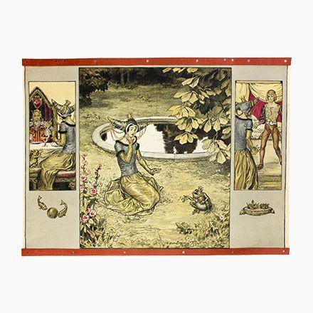 Der Froschkönig Märchen Wandtafel von E. Schütz, 1929 Jetzt bestellen unter: https://moebel.ladendirekt.de/dekoration/wandtattoos/wanddekoration/?uid=be599426-6ccd-5984-aaa1-ea6659e119bf&utm_source=pinterest&utm_medium=pin&utm_campaign=boards #karten #tattoos #dekoration