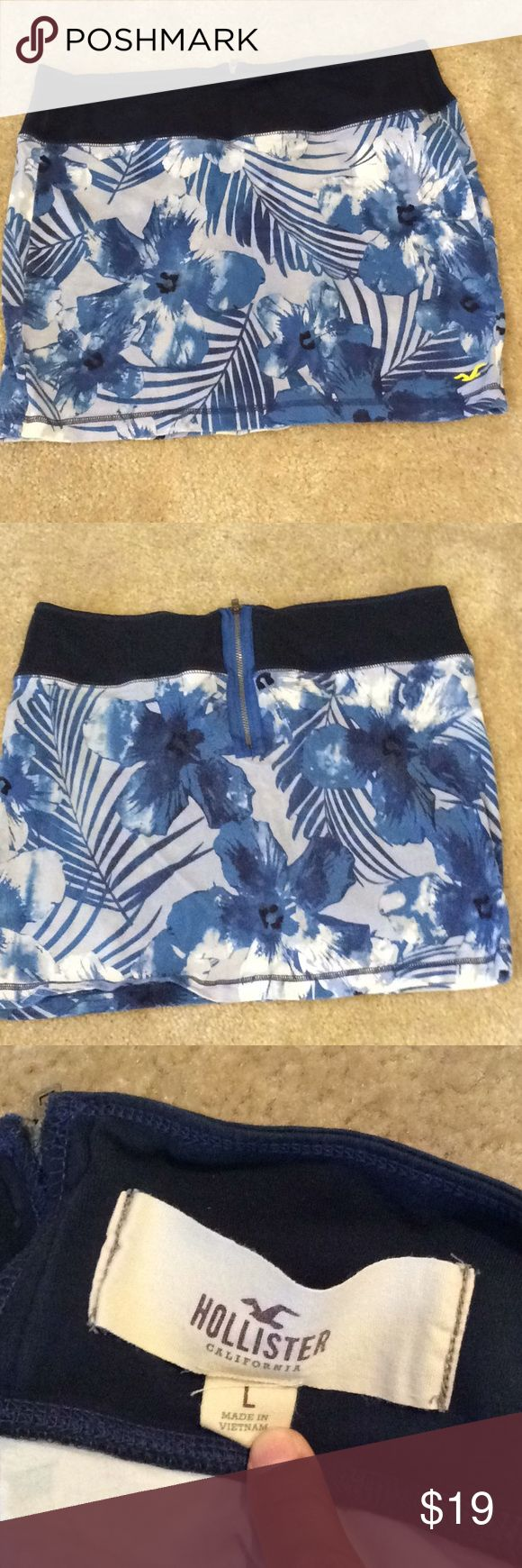 Hollister skirt Super stretchy and comfortable Hollister skirt. Has a nice half zipper I'm the back. Perfect to wear with a tank top or body suit. Hollister Skirts Mini