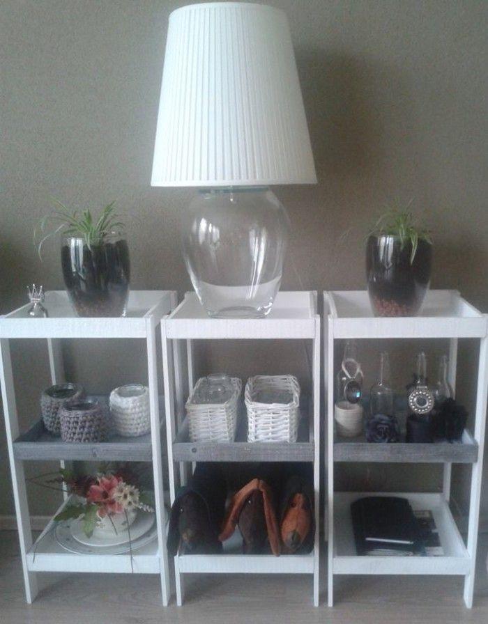 Dienbladen van de action afdek latjes en witte muurverf for Decoratie spullen