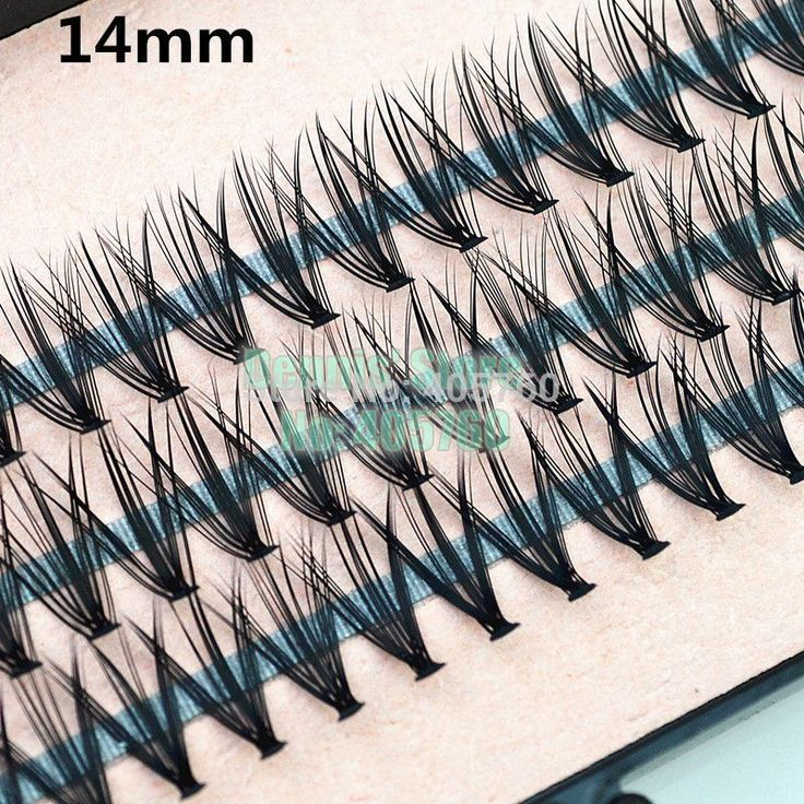 Groothandel 4 packs/lot Pro 57 Knopen 20 Haren Zwart Individuele valse Wimpers Eye Lash Make Extension Kit 8mm 10mm 12mm 14mm