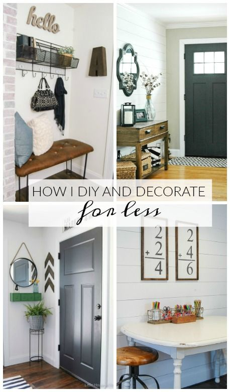 How I DIY and Decorate For Less