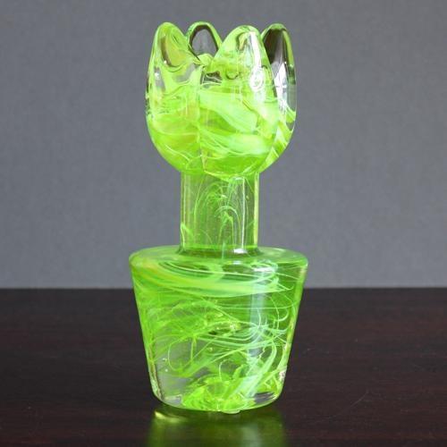 kosta boda flower power - lime green