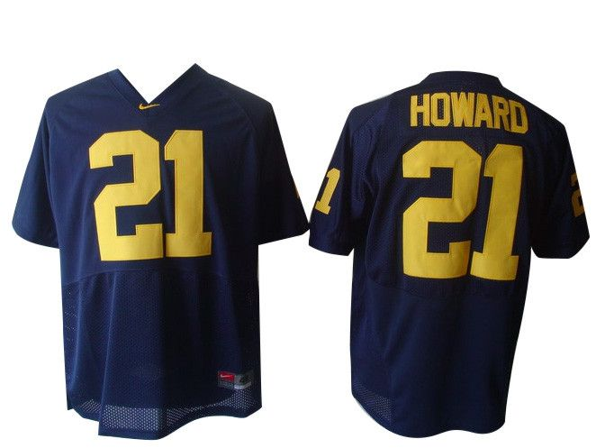 Michigan Wolverines #21 Howard College Football Jersey