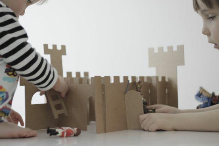 brilliant cardboard castle for kids!