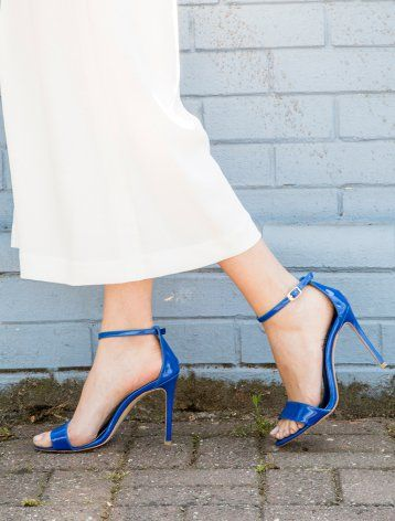 Dolce Vita Saks Mavi Rugan Topuklu Sandalet