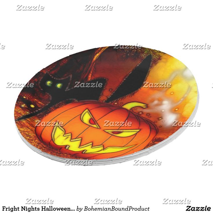 Fright Nights Halloween Party Paper Plate