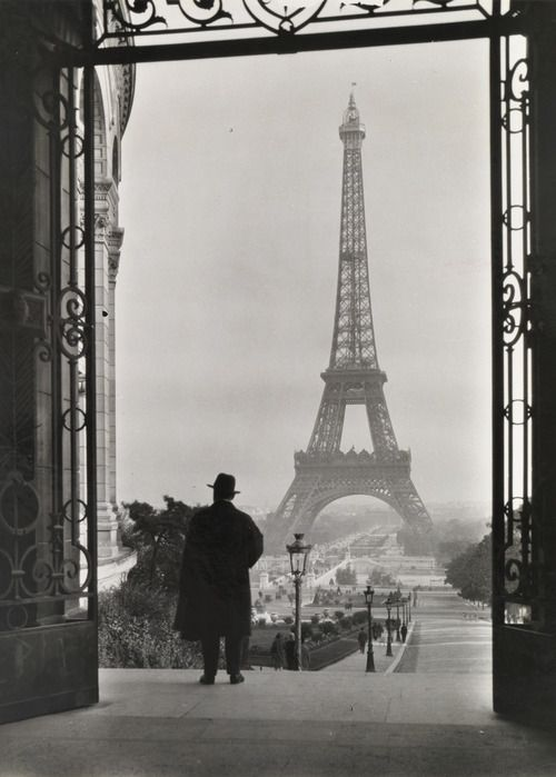 CLIFTON R. ADAMS: Tour Eiffel, from Palais du Trocadéro, 1929.