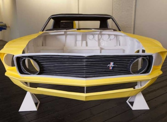 A mustang made entirely of paper. That's Origami elevated to the ninja-like levels.
