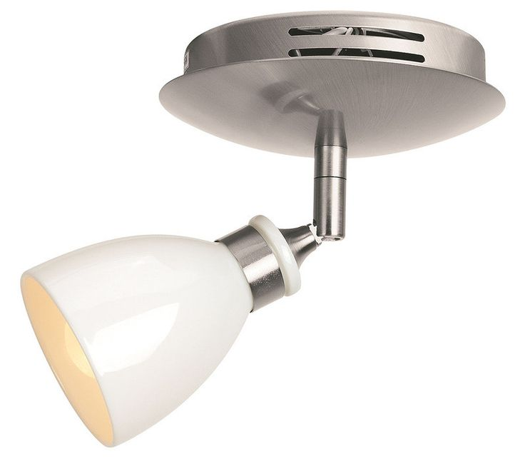 Access Lighting 52210 BS/WHP Petra Collection Swivel Contemporary Spot Light