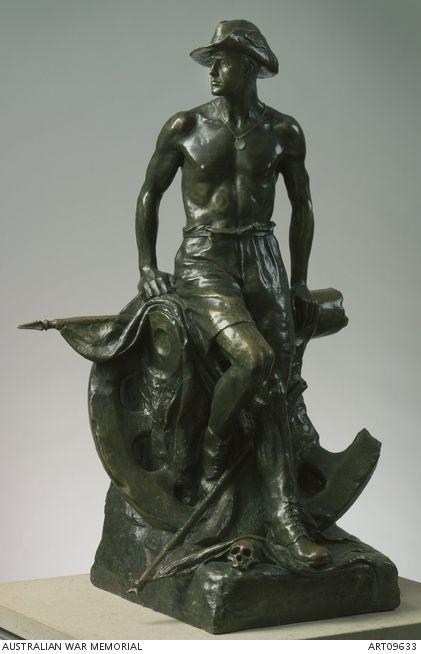 Wallace Anderson, Evacuation, 1925, bronze, 82.2 x 50.1 x 37.5 cm