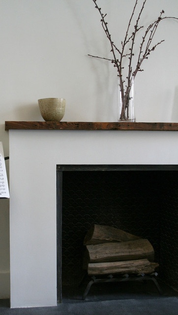 love the wood topped shelf. simple